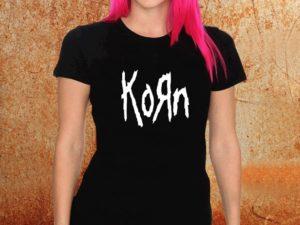Camiseta feminina baby korn preta Estamparia Rock na Veia