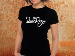 Camiseta feminina baby look Beach Boys preta Estamparia Rock na Veia