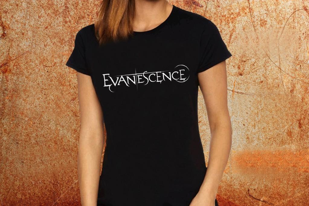78cf4d29f Camiseta feminina baby look Evanescence preta Estamparia Rock na Veia