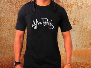 Camiseta masculina 4 Non Blondes preta Estamparia Rock na Veia