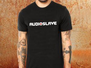 Camiseta masculina Audioslave logo preta Estamparia Rock na Veia