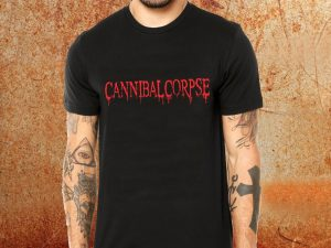 Camiseta masculina Cannibal Corpse preta Estamparia Rock na Veia