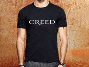 Camiseta masculina Creed preta Estamparia Rock na Veia
