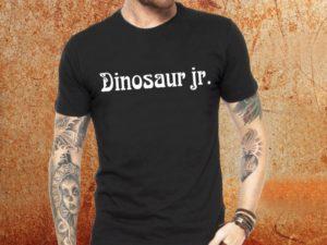 Camiseta masculina Dinosaur Jr preta Estamparia Rock na Veia