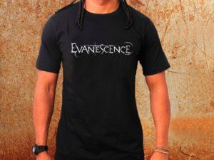 Camiseta masculina Evanescence preta Estamparia Rock na Veia
