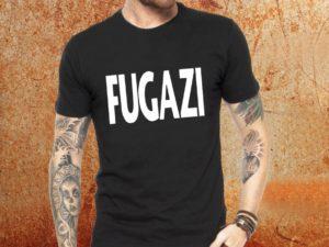 Camiseta masculina fugazi preta Estamparia Rock na Veia