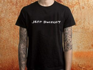 Camiseta masculina Jeff Buckley preta Estamparia Rock na Veia