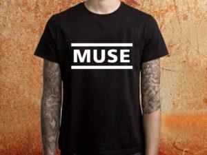 Camiseta masculina Muse preta Estamparia Rock na Veia