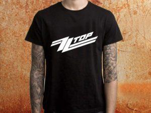 Camiseta Masculina ZZ Top preta Estamparia Rock na Veia