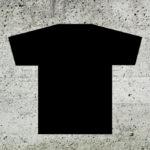 Camiseta personalizada preta Estamparia Rock na Veia