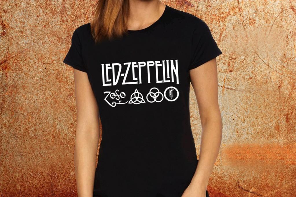Camiseta feminina baby look Led Zeppelin - ESTAMPARIA ROCK NA VEIA b0a2643e936